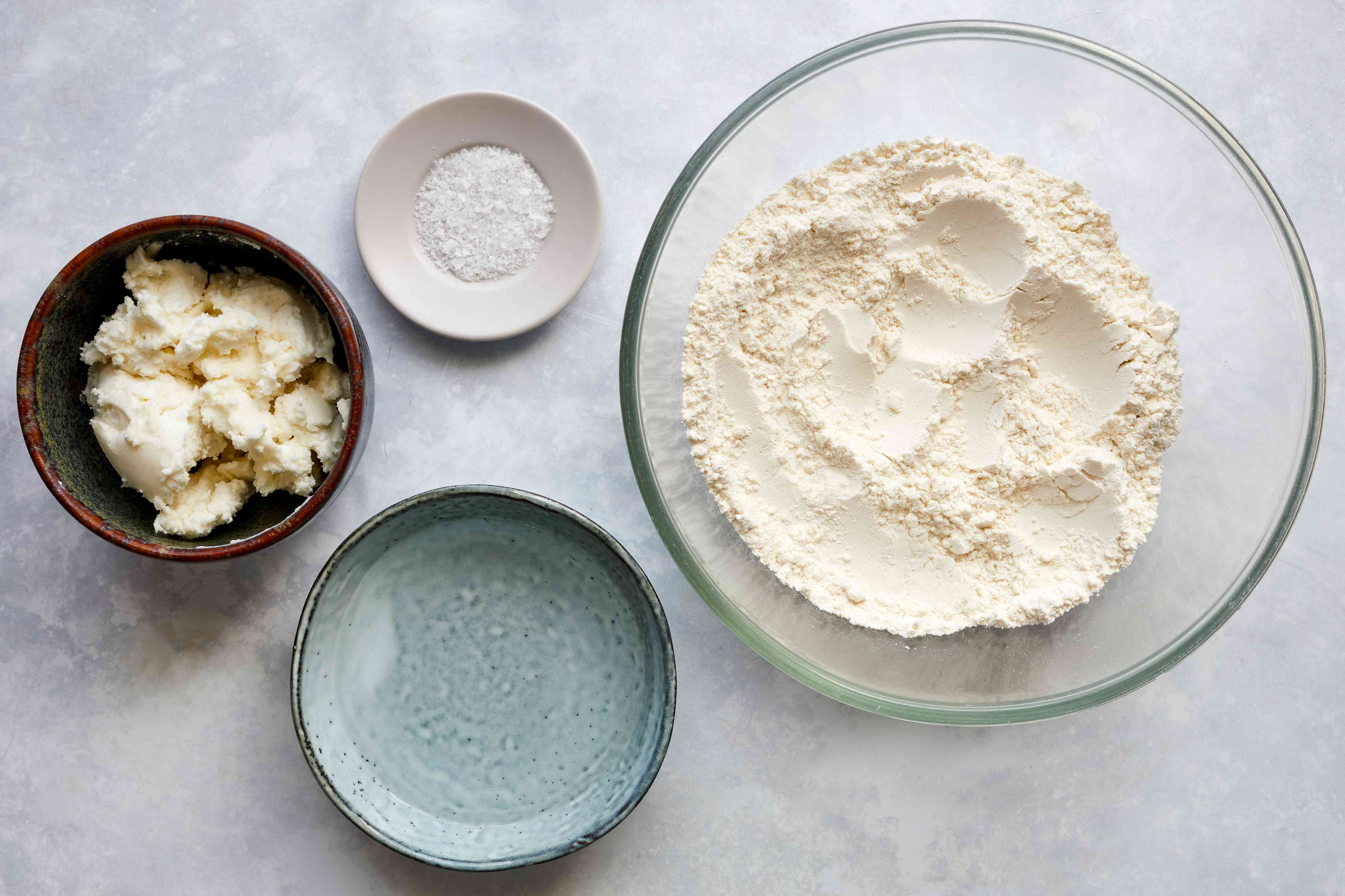 Ingredients for making a pie crust