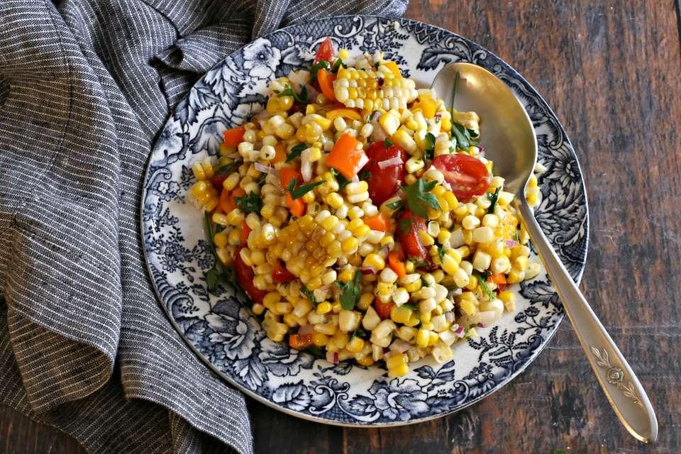 Ensalada de maíz a la parrilla