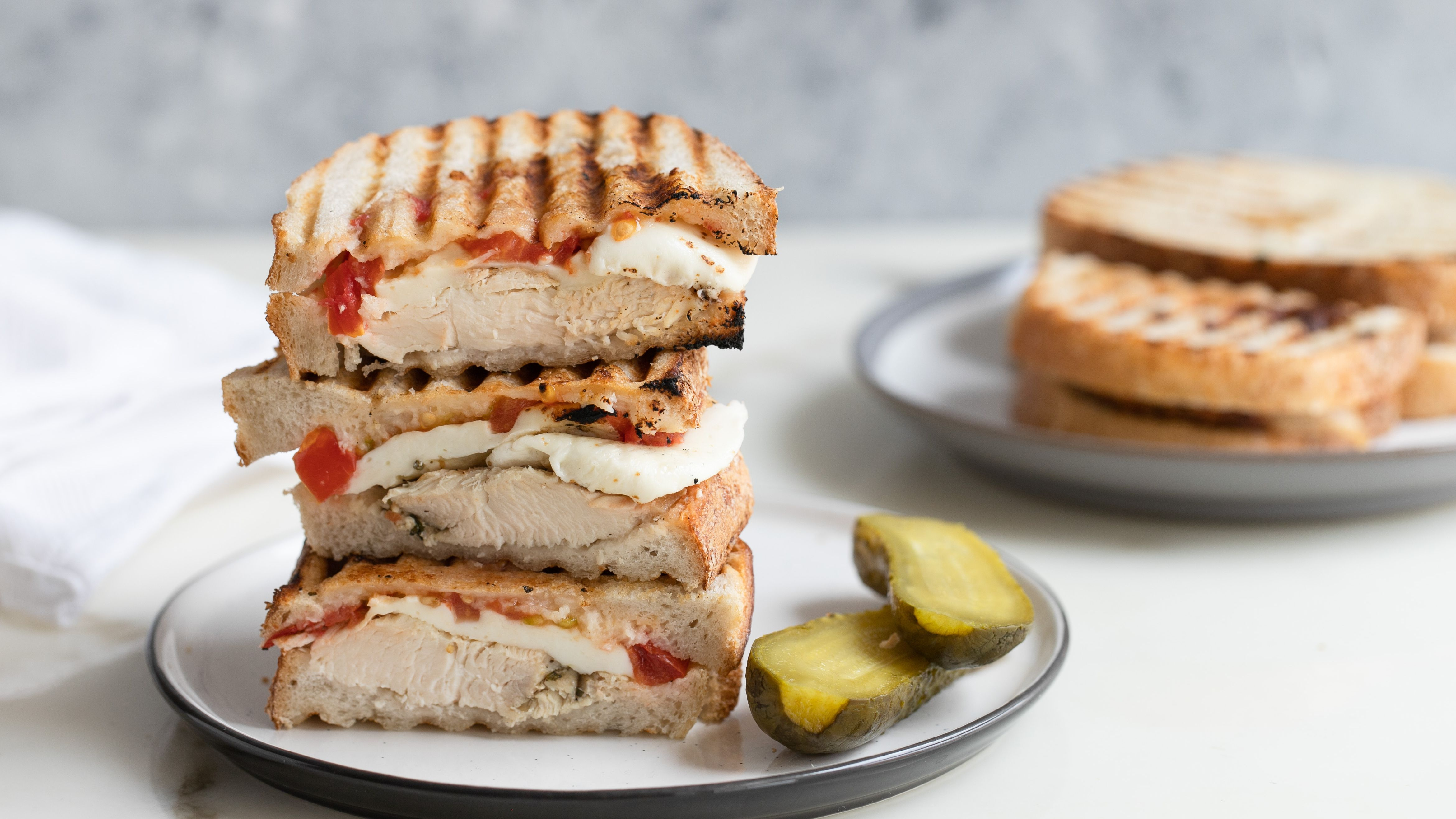 Grilled Chicken And Mozzarella Panini Recipe
