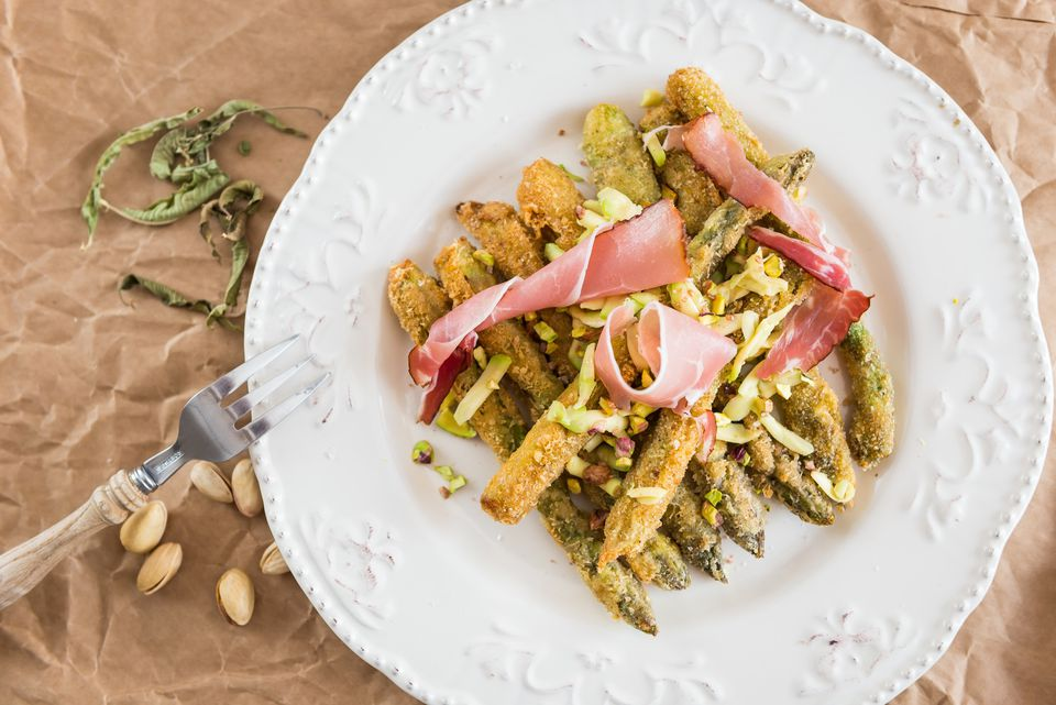 Deep-Fried Asparagus