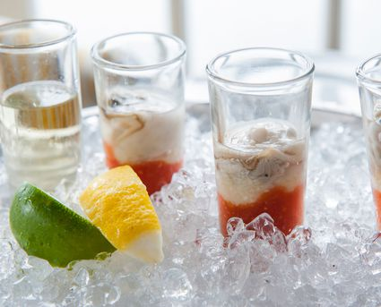 Oyster Shooters on Ice