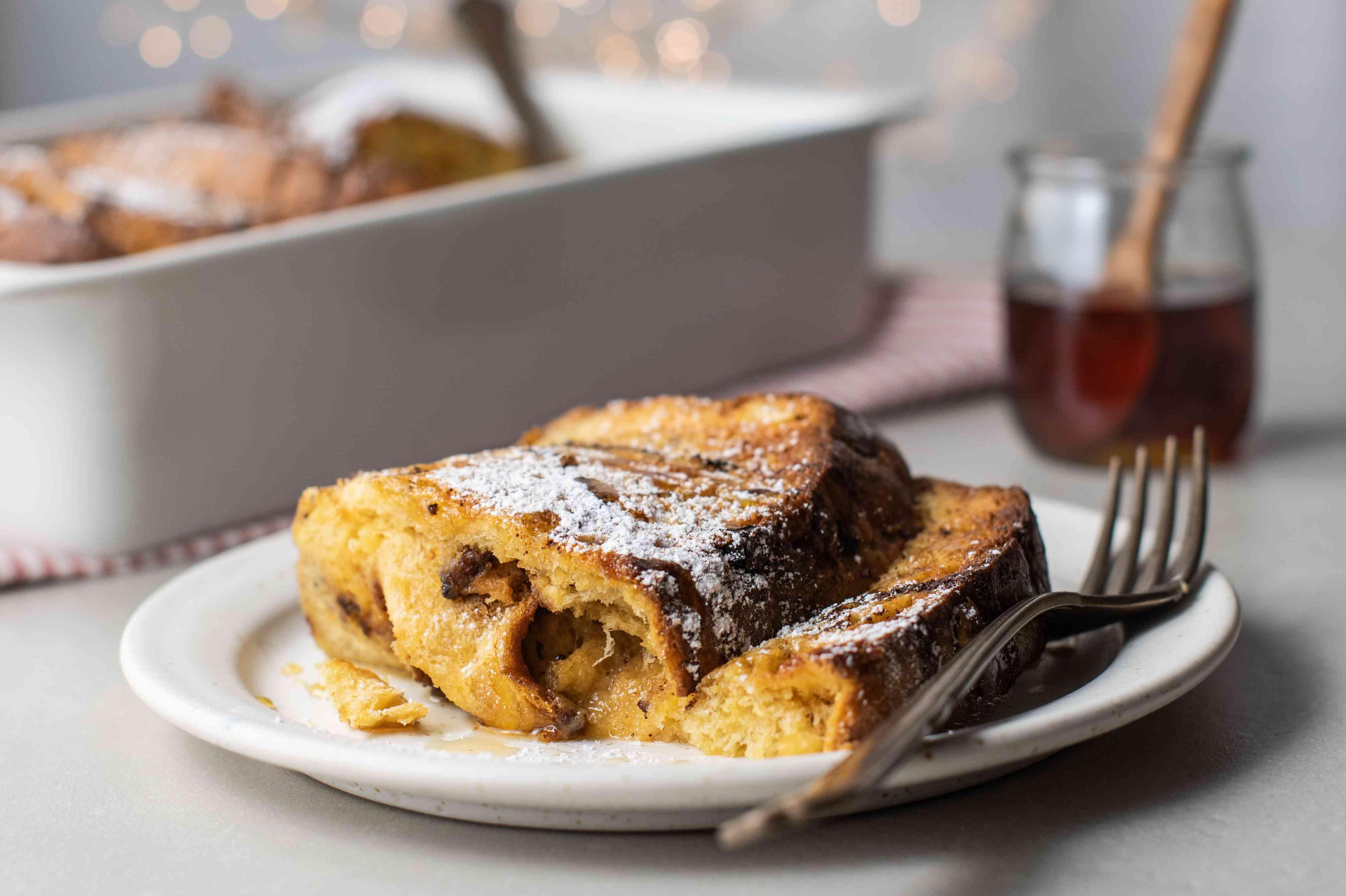 Panettone French toast bake