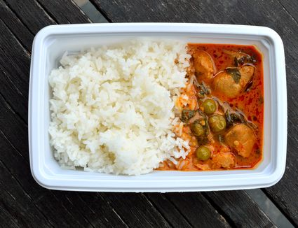 Hot lunch in a container