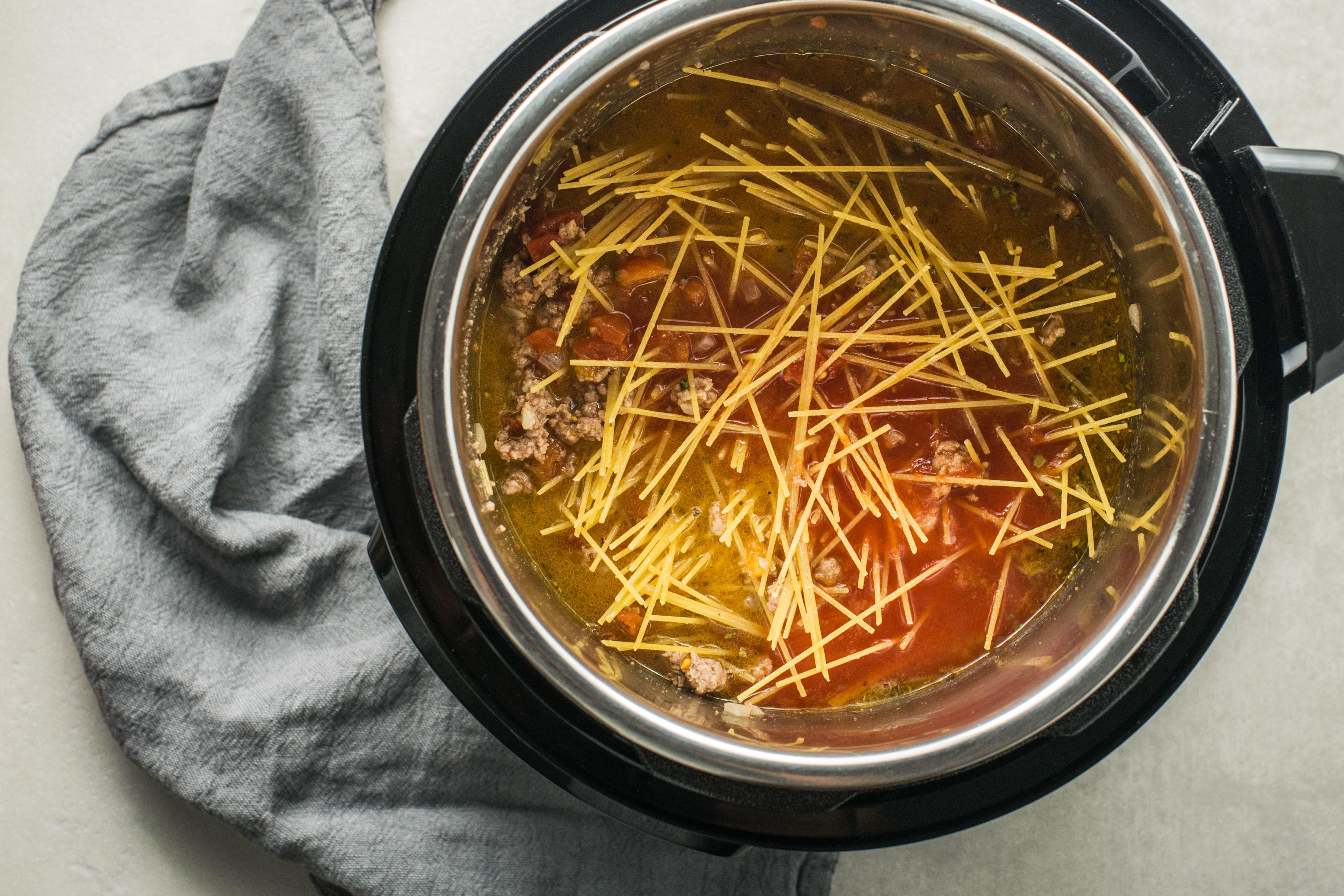 Break spaghetti up