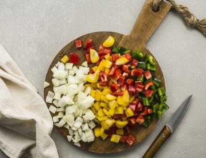 Chop the vegetables