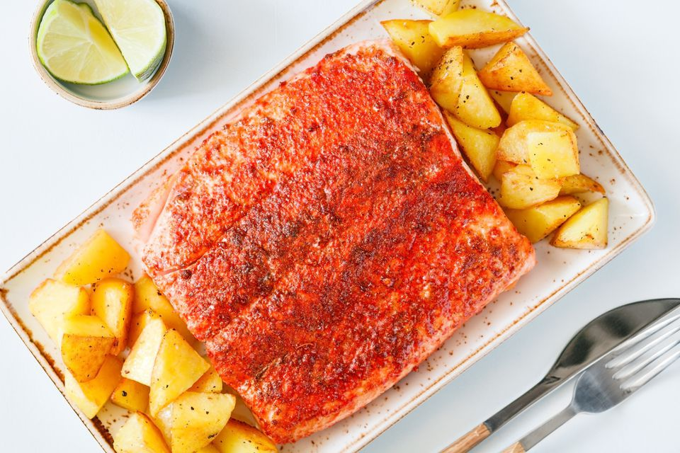 6-Ingredient Roasted Salmon Fillets