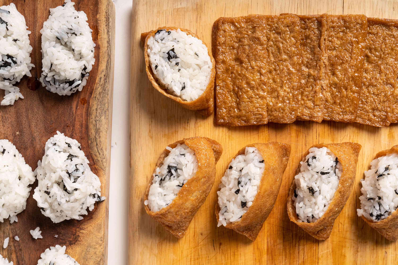 Rice stuffed tofu pockets (inari sushi)