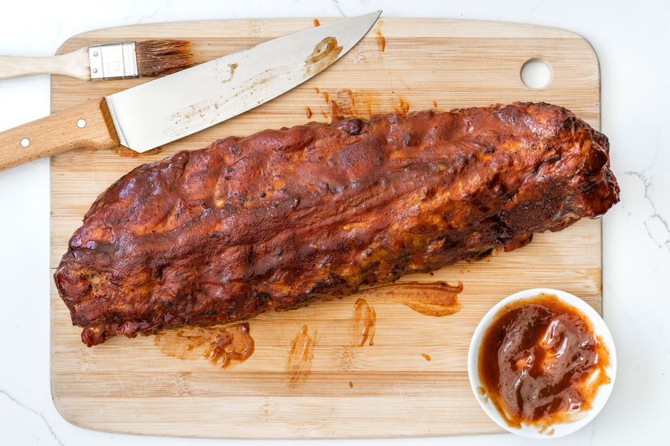 Apple Barbecue Sauce on Ribs
