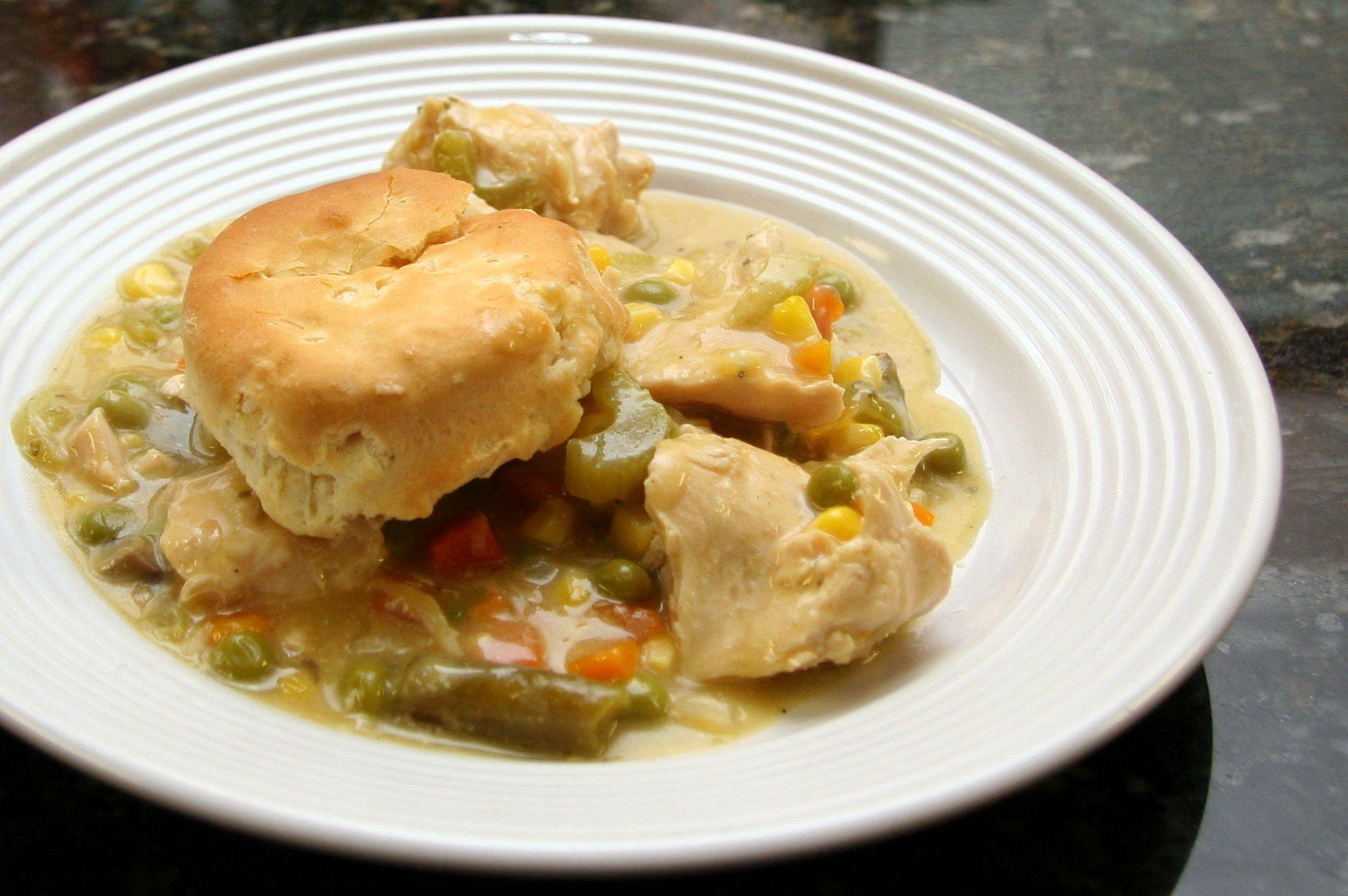 Crock Pot Chicken and Biscuits