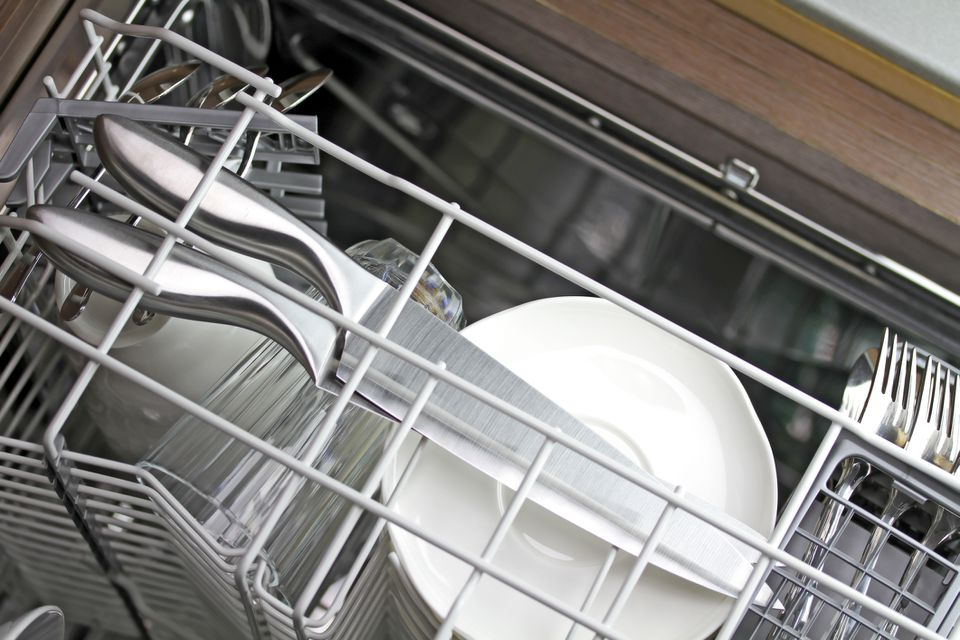 Knives in Dishwasher