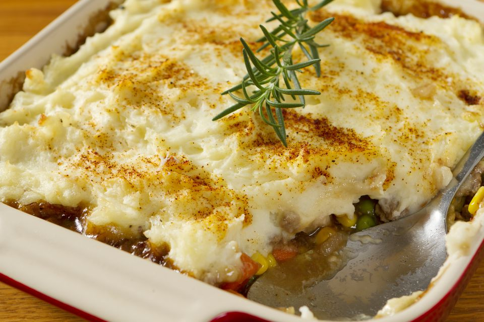 shepherds pie with beef or lamb