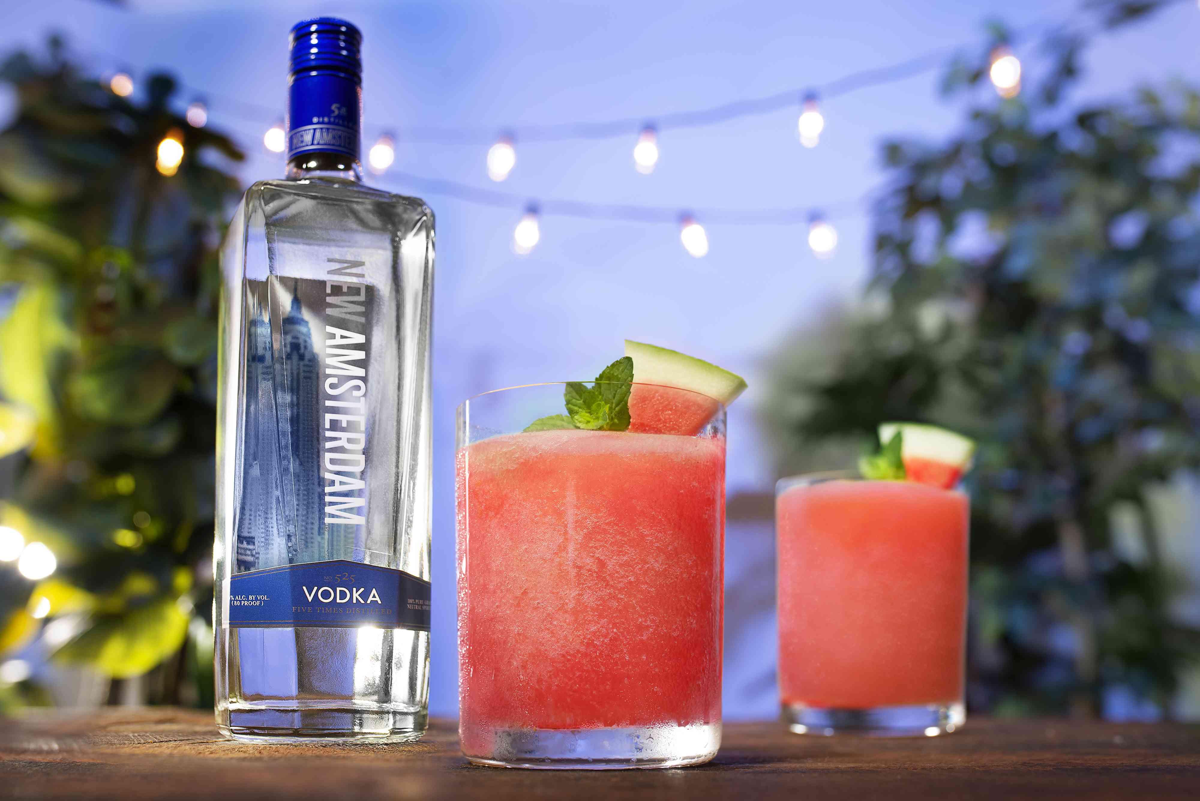 New Amsterdam Vodka With Frozen Melon Go Lemonade Cocktails