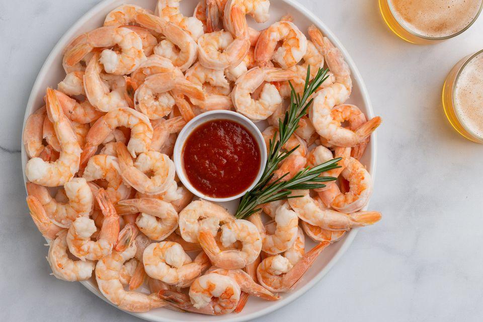 Beer-Steamed Shrimp