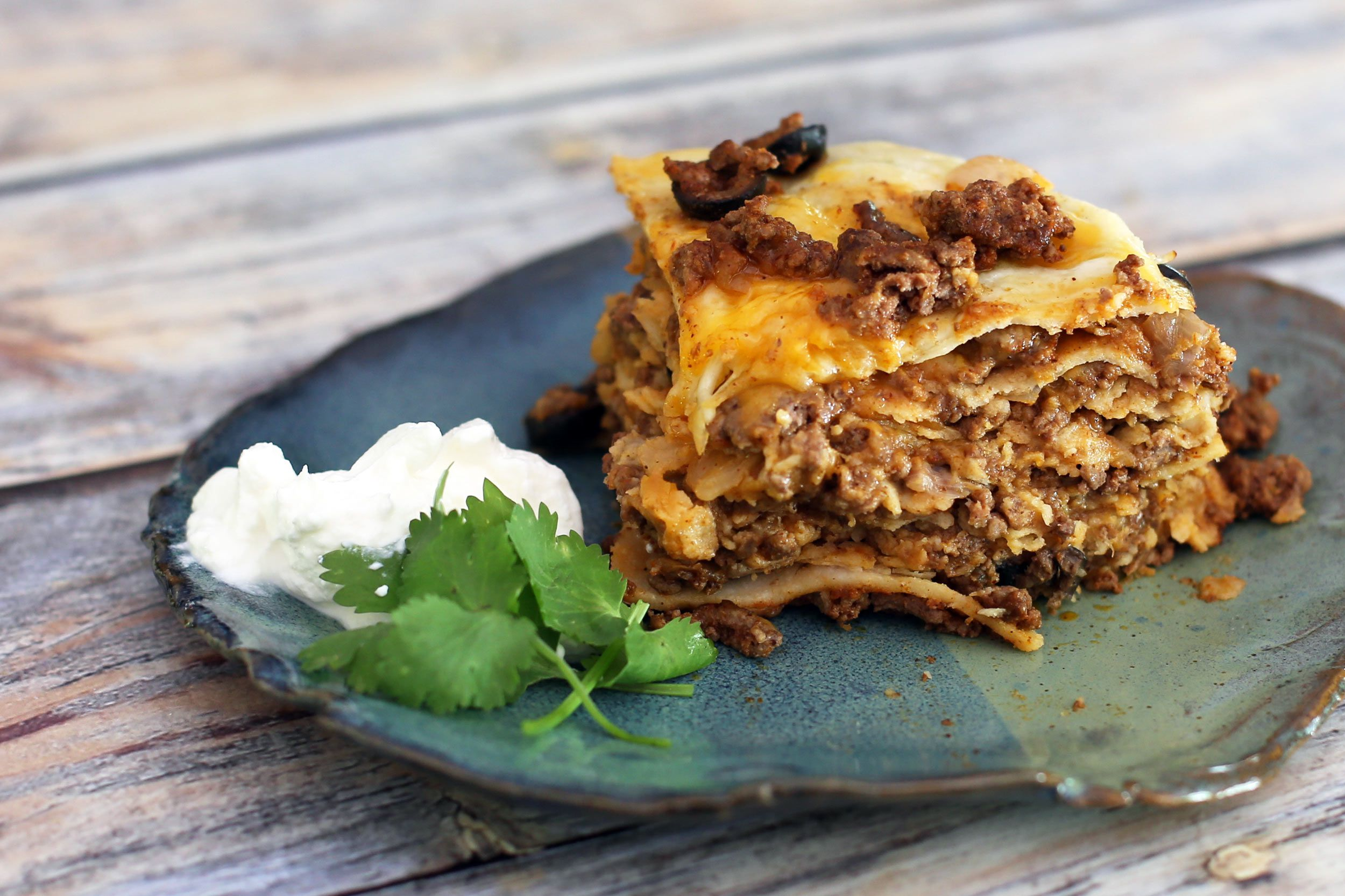 Slow Cooker Taco Stack With Ground Beef