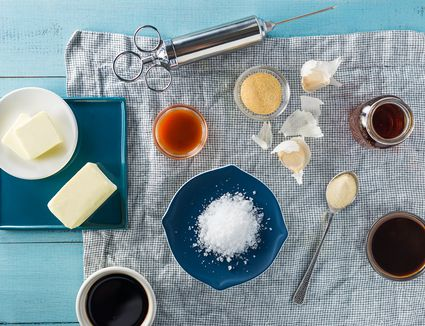 Ingredients for beer and butter injection