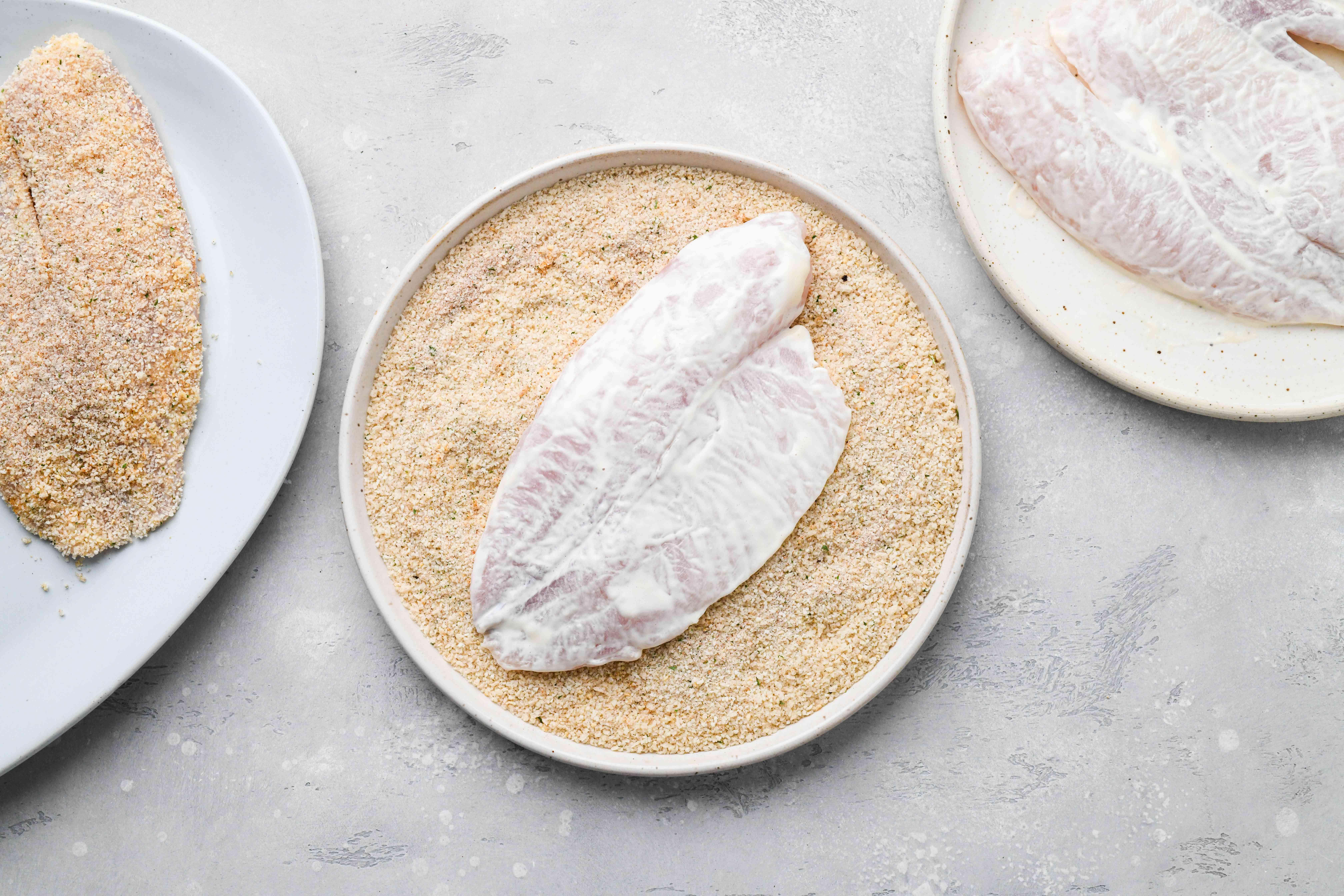 tilapia dipped in bread crumbs