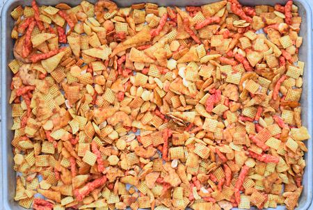 Spicy Chex Mix. Leah Maroney