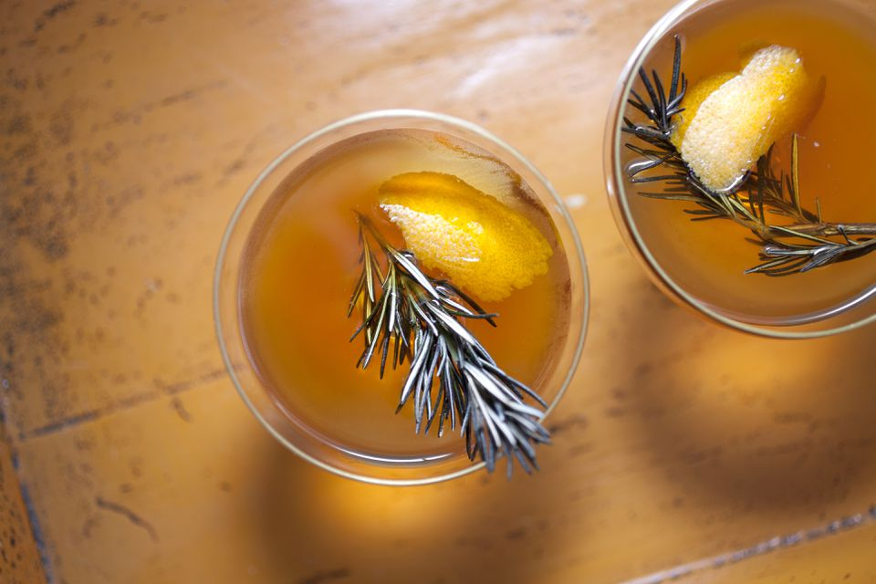 Pumpkin Old-Fashioned Cocktail