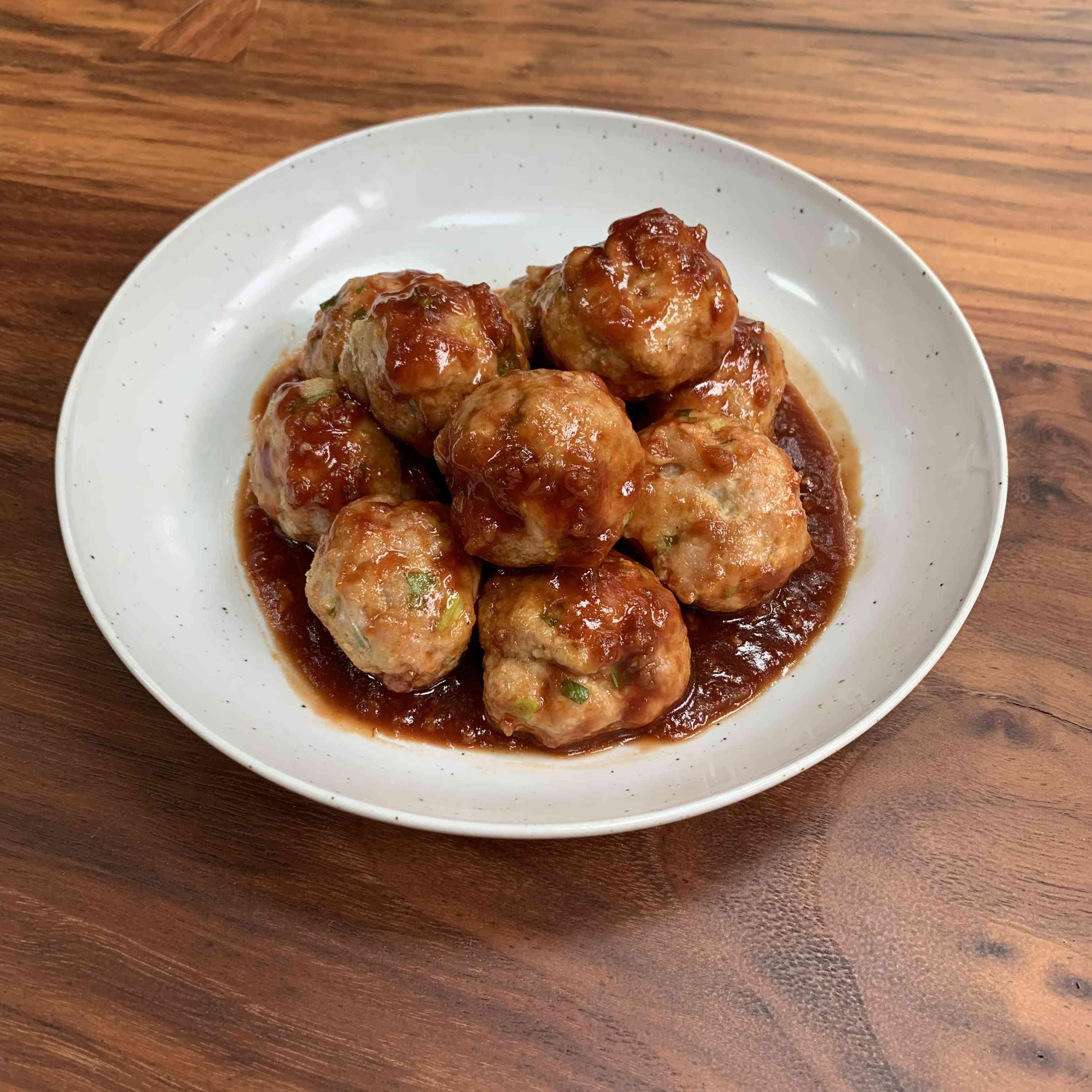 Honey Garlic Pork Meatballs Tester Image