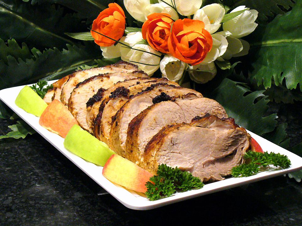 Apple cider pork loin