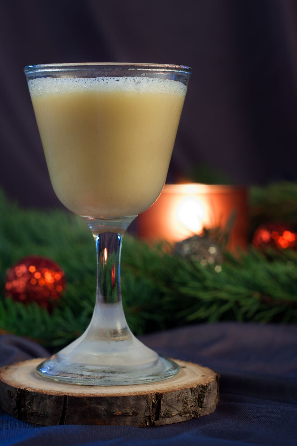 Santa's Whiskey Flip Cocktail