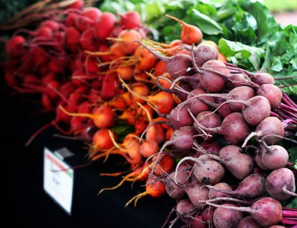 Different types of beets on a table