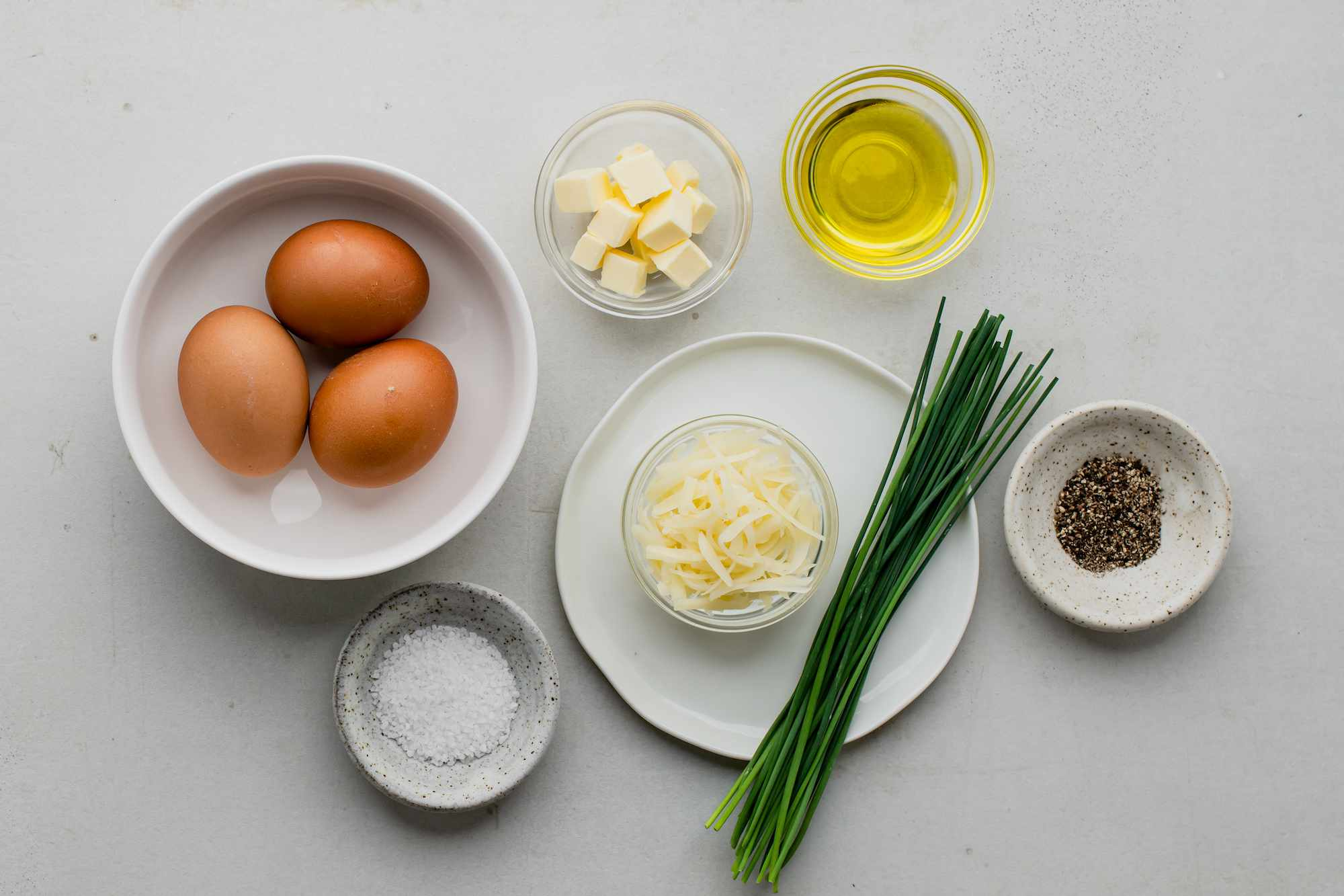 Ingredients for French omelet