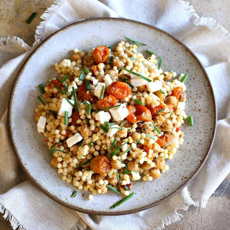 Falafel-Spiced Middle Eastern Couscous (Israeli Couscous)