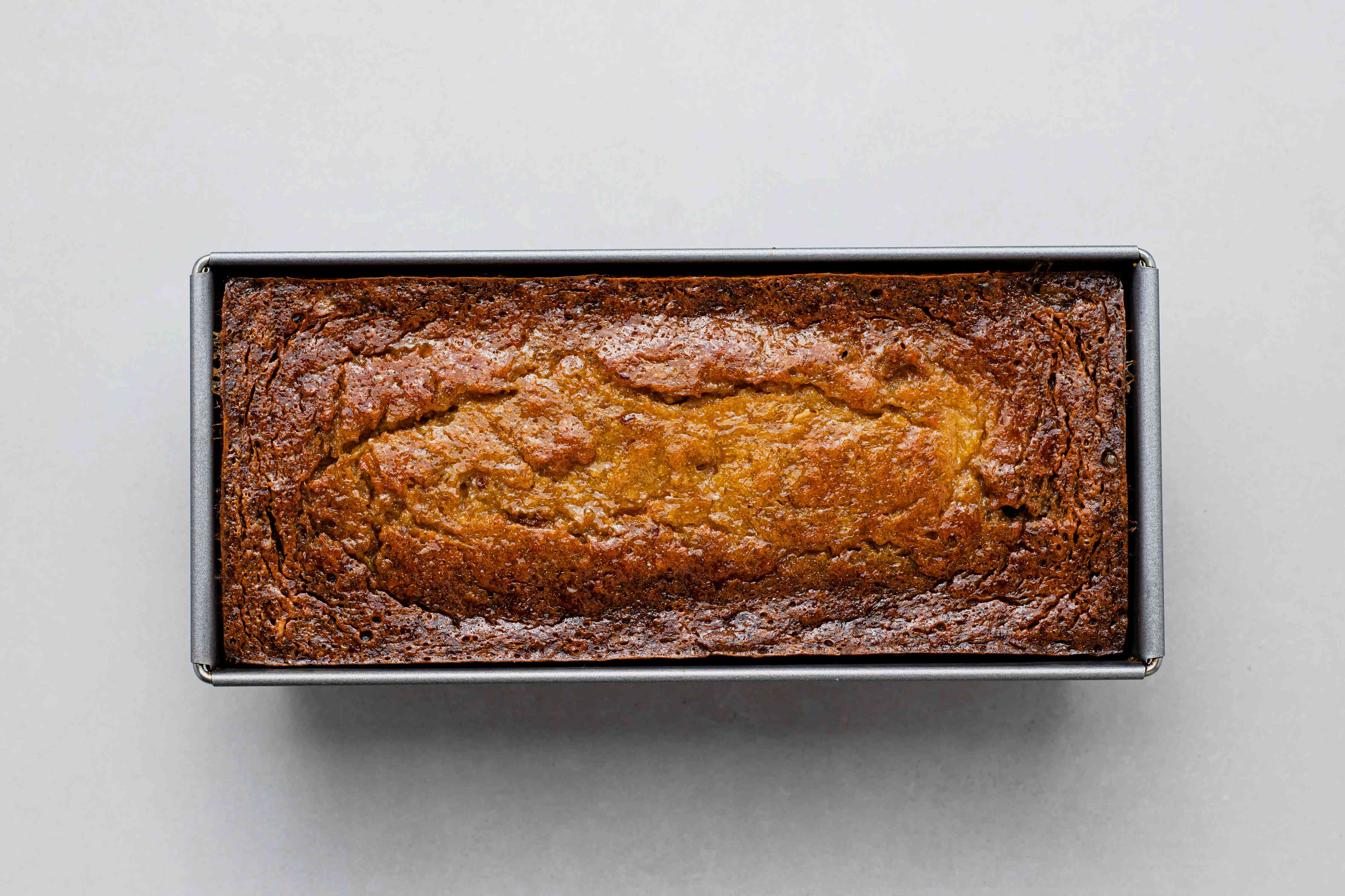 Easy Persimmon Quick Bread in a loaf pan
