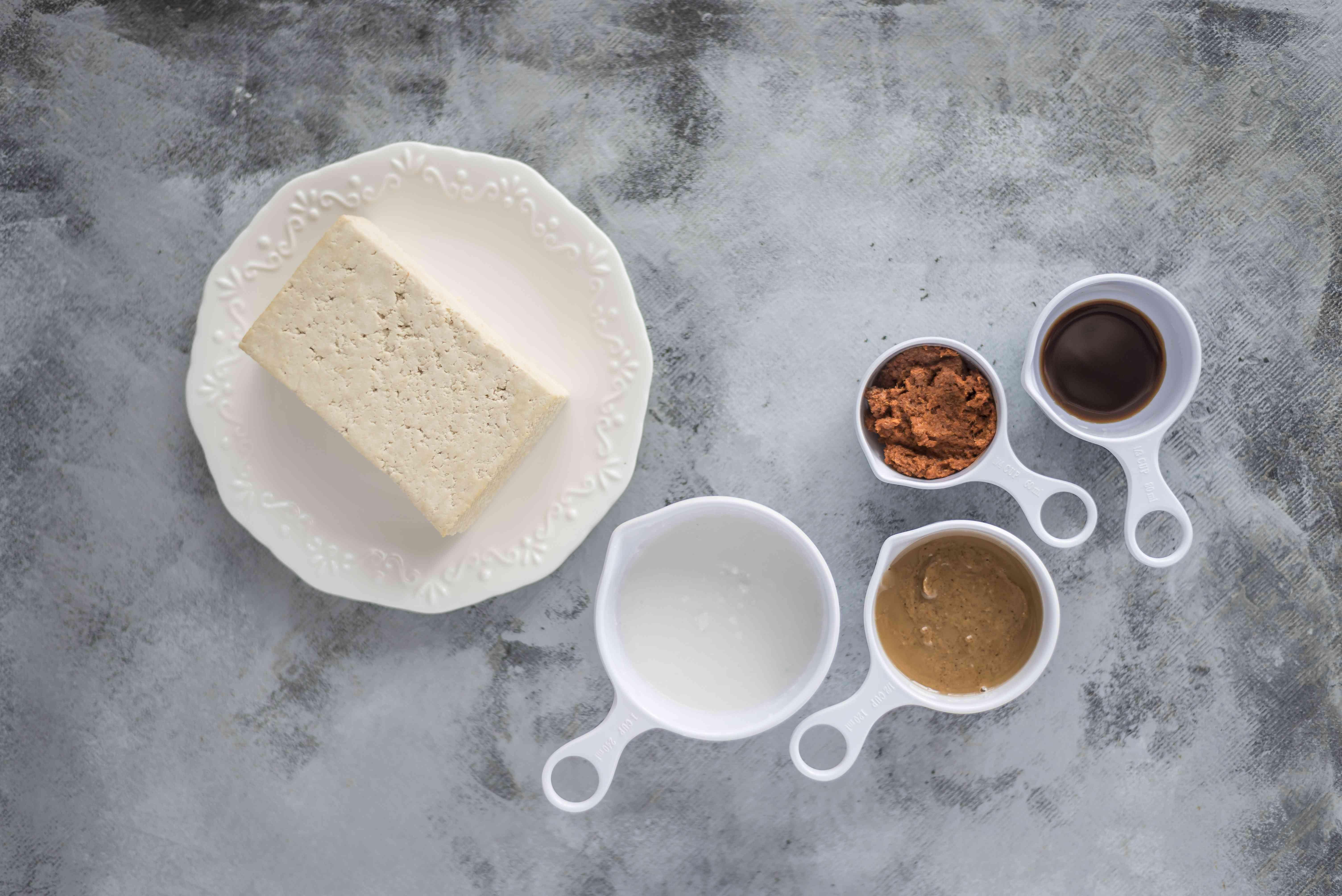 Ingredients for tofu satay