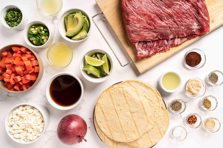 Instant Pot Carne Asada ingredients