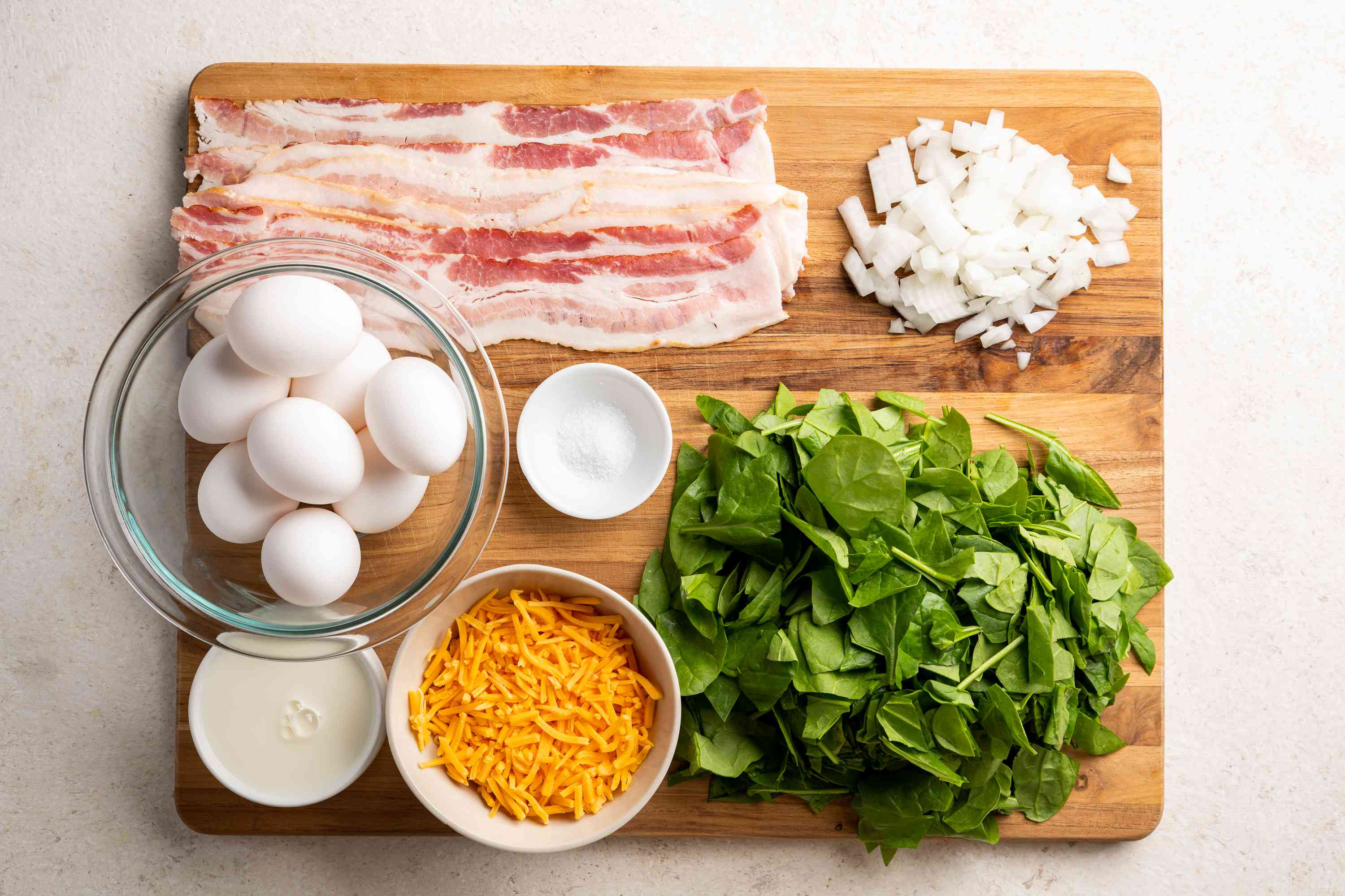 Spinach Frittata recipe ingredients