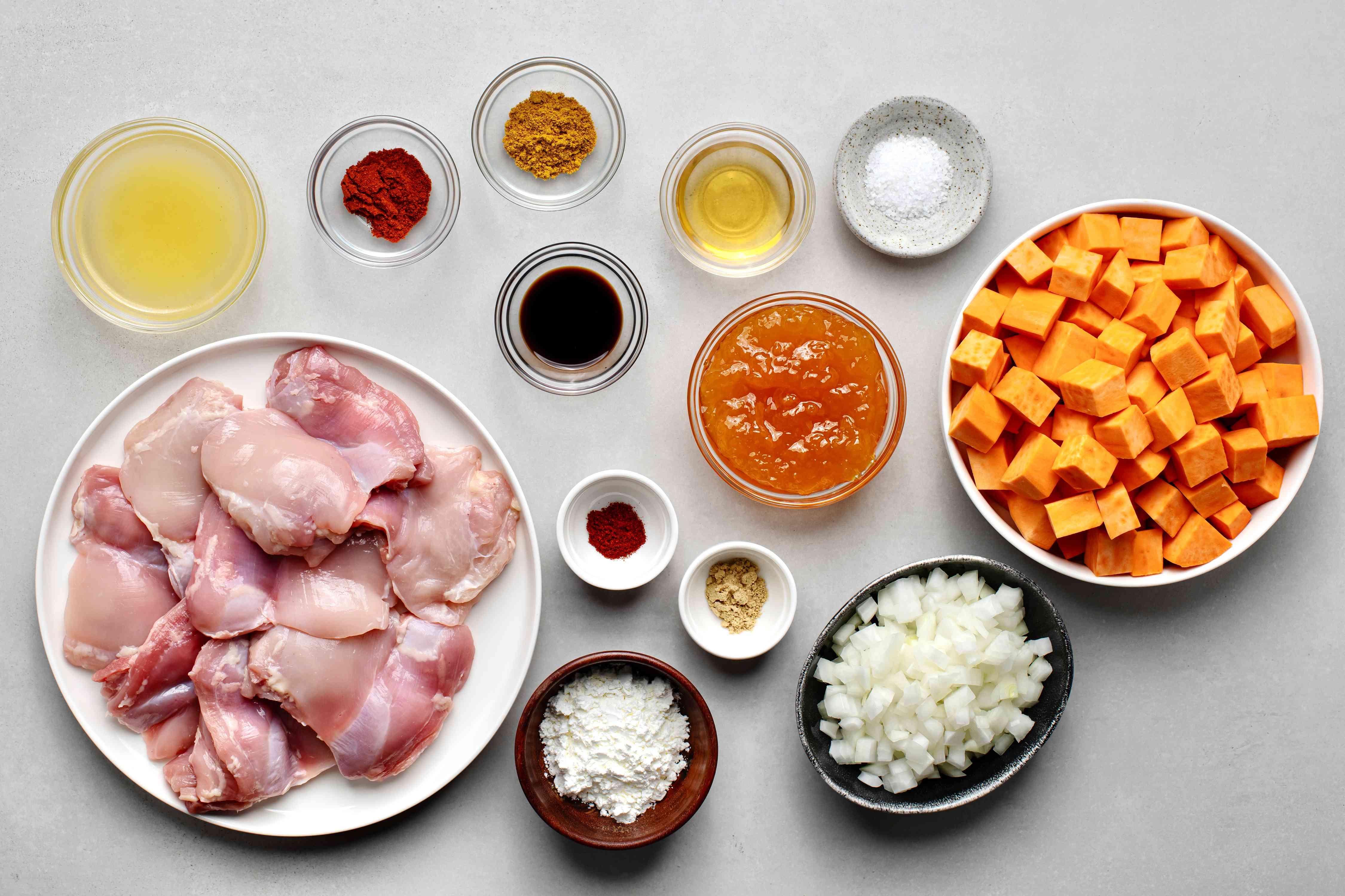 Crockpot Chicken and Sweet Potatoes ingredients