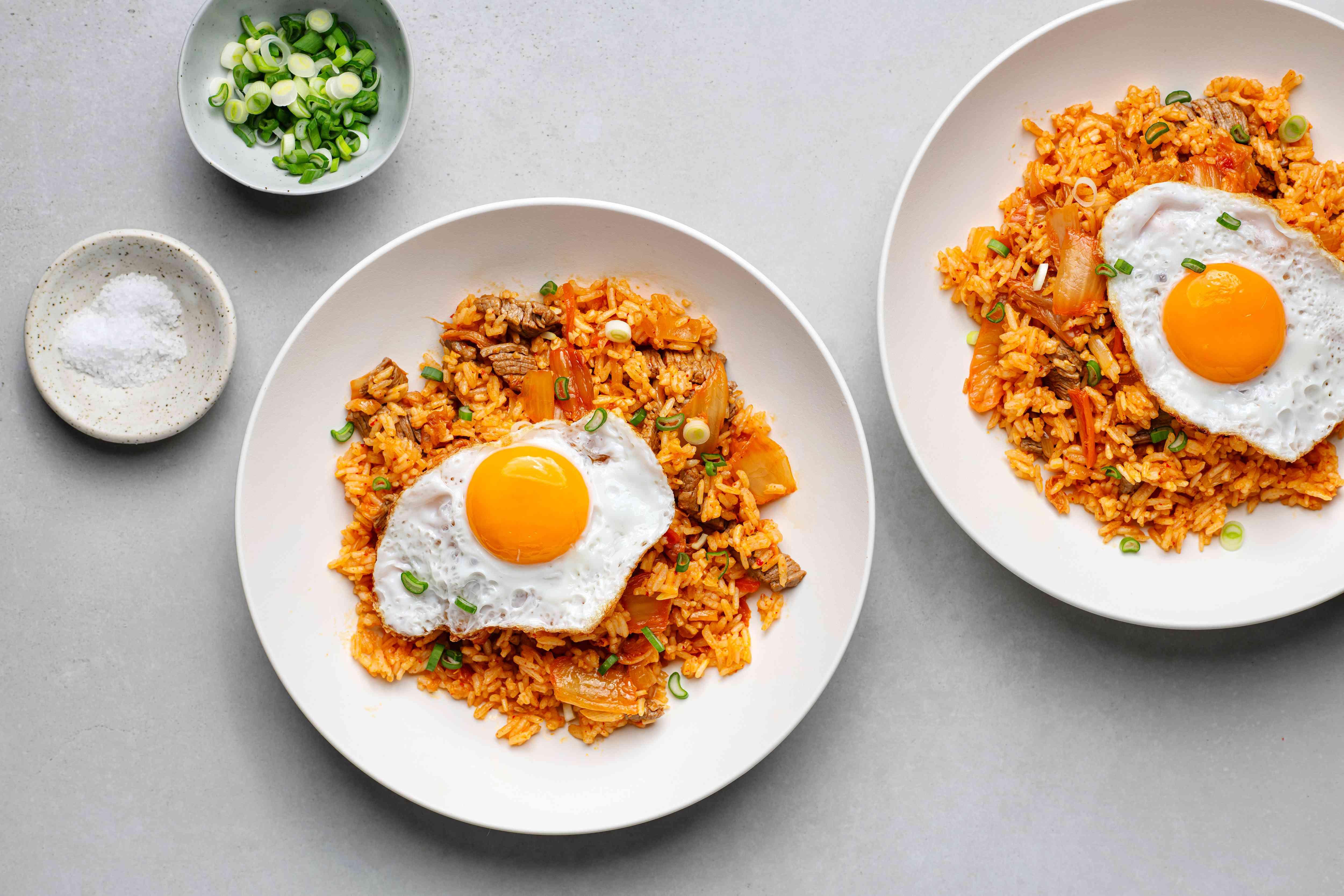 Kimchi Bokumbap: Kimchi Fried Rice with a fried egg on top