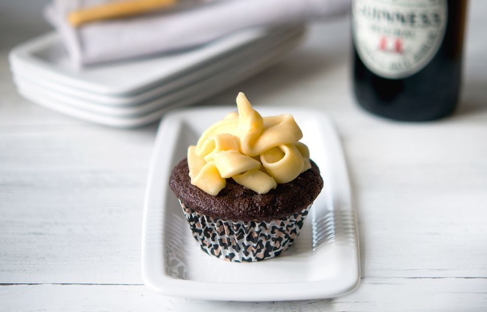 Guinness and Chocolate Cupcakes With Baileys Cream Frosting