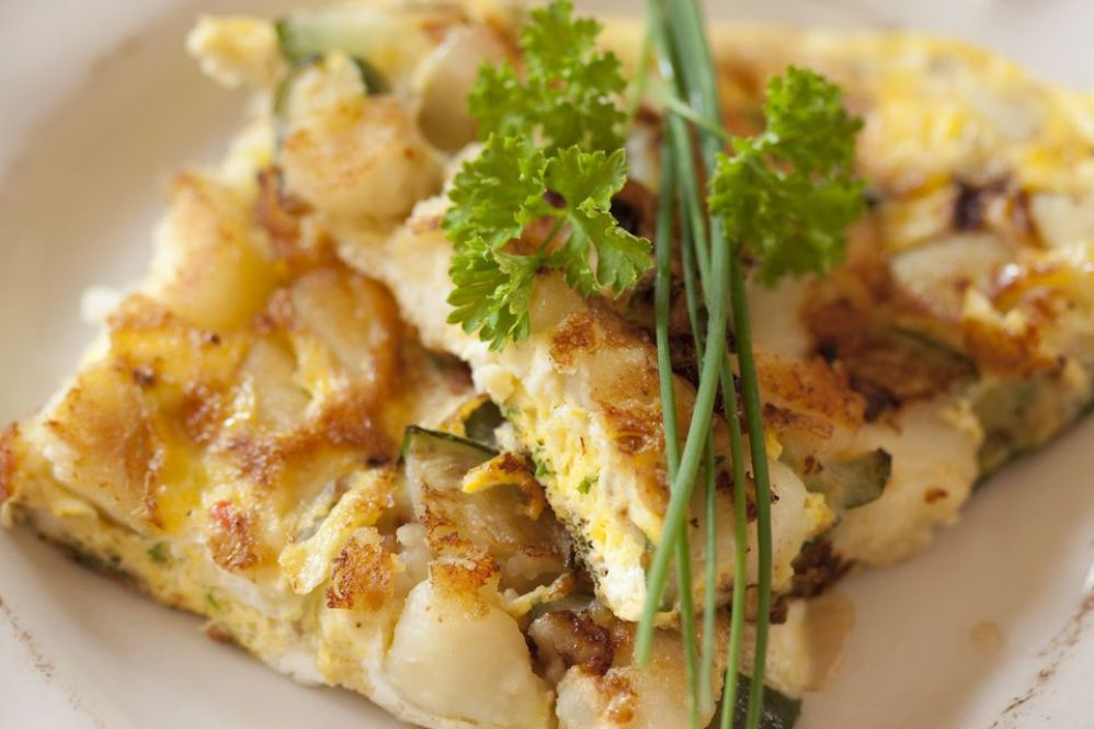 Vegan Frittata With Tofu, Potatoes and Onions
