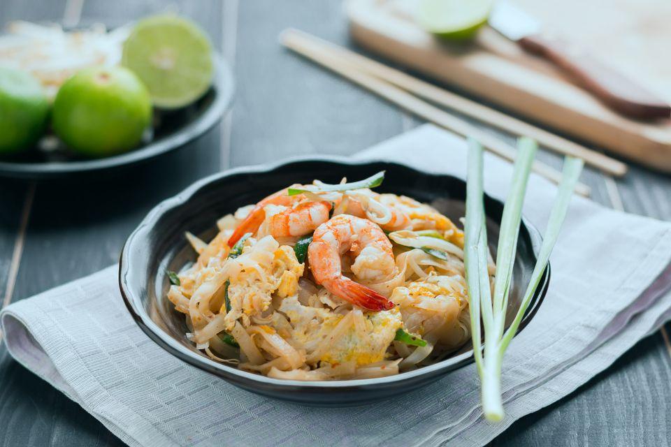 Camarones tailandeses con limón y limón