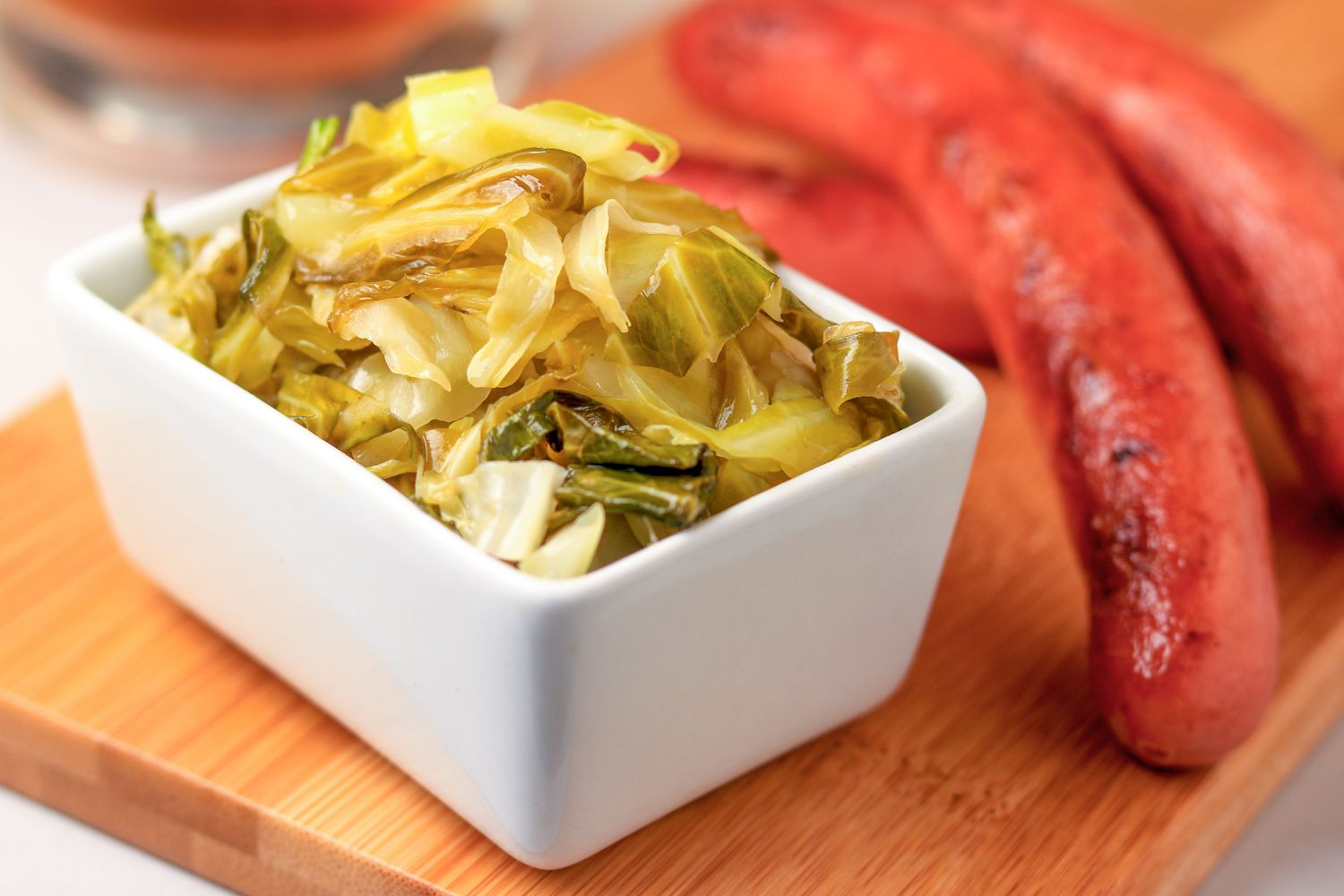 Cooked skillet cabbage