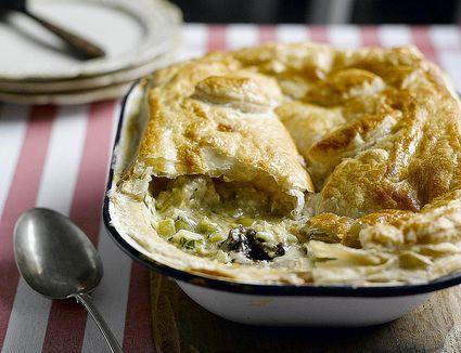 Chicken, Leeks, and Caerphilly Cheese Pie