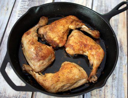 Chicken Legs in Skillet