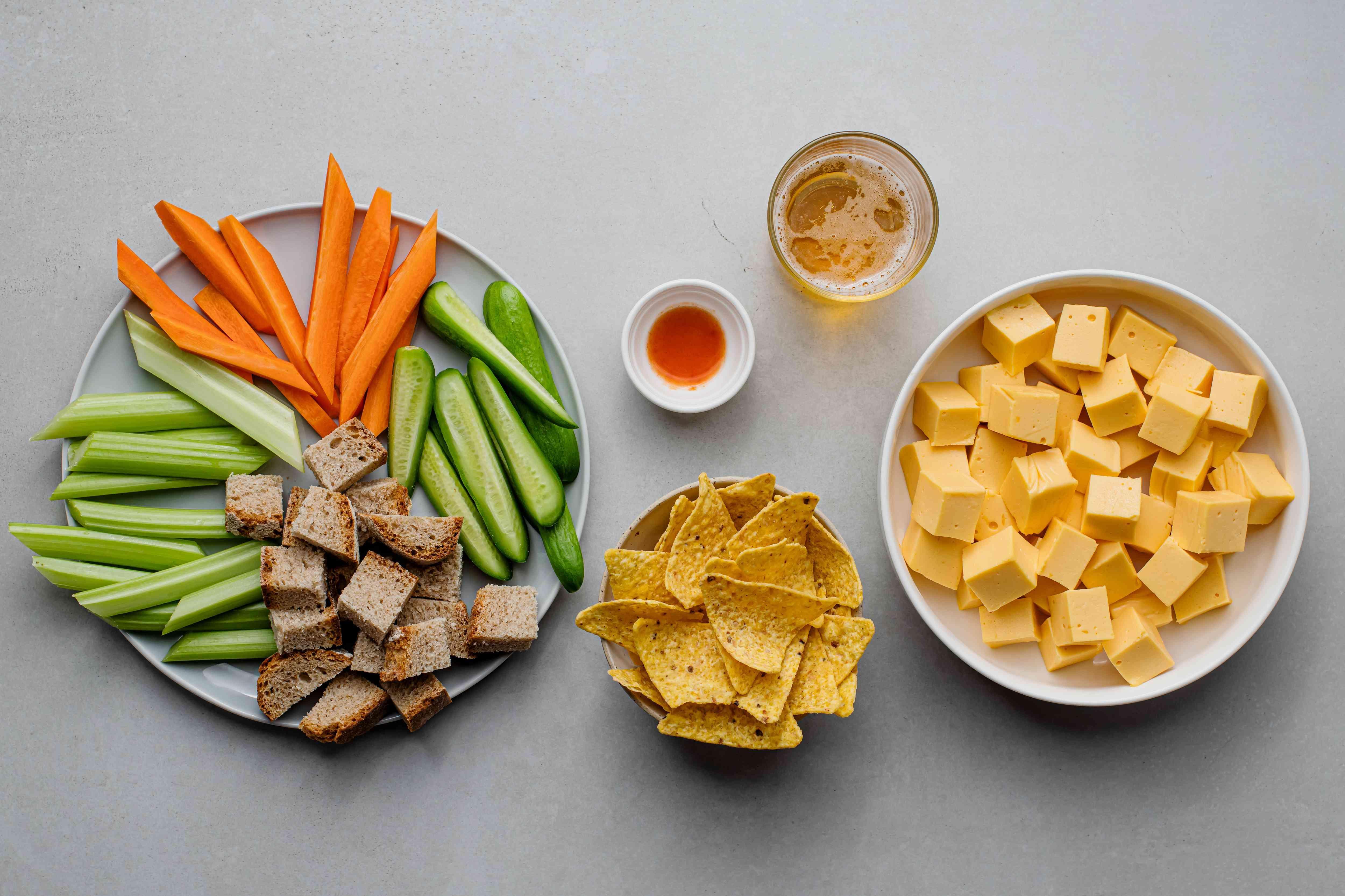 Crockpot Beer Cheese Dip ingredients