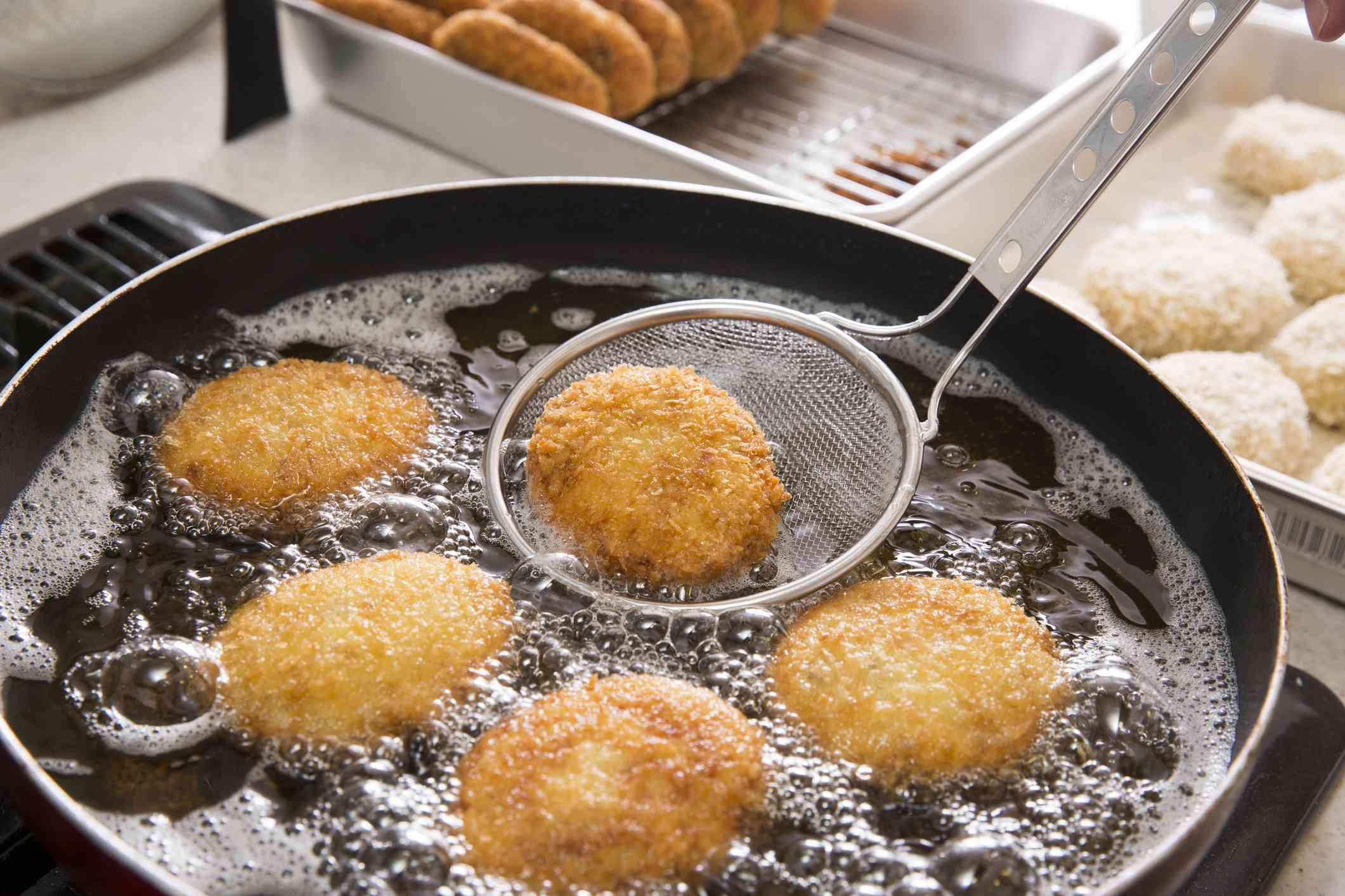 Frying in vegetable oil