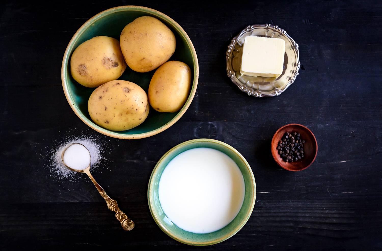 Mashed potatoes recipe ingredients