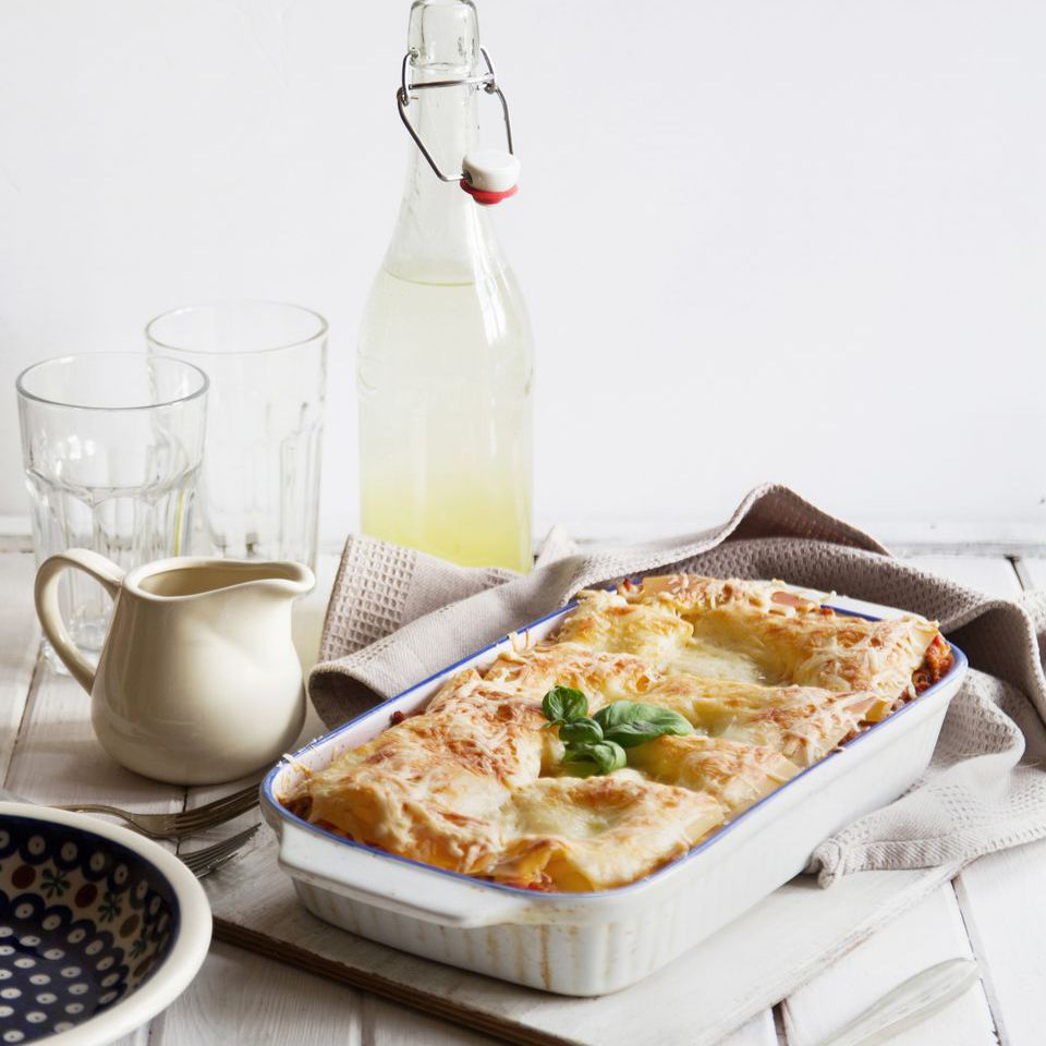Veggie lasagna with alfredo sauce