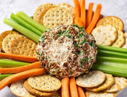 Salmon Cheese Ball With Horseradish