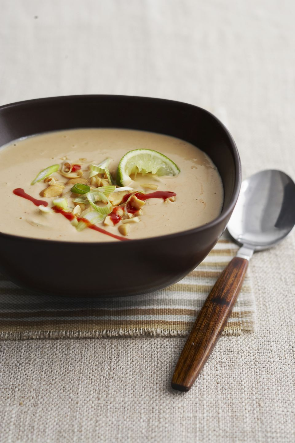 Spicy asian peanut soup