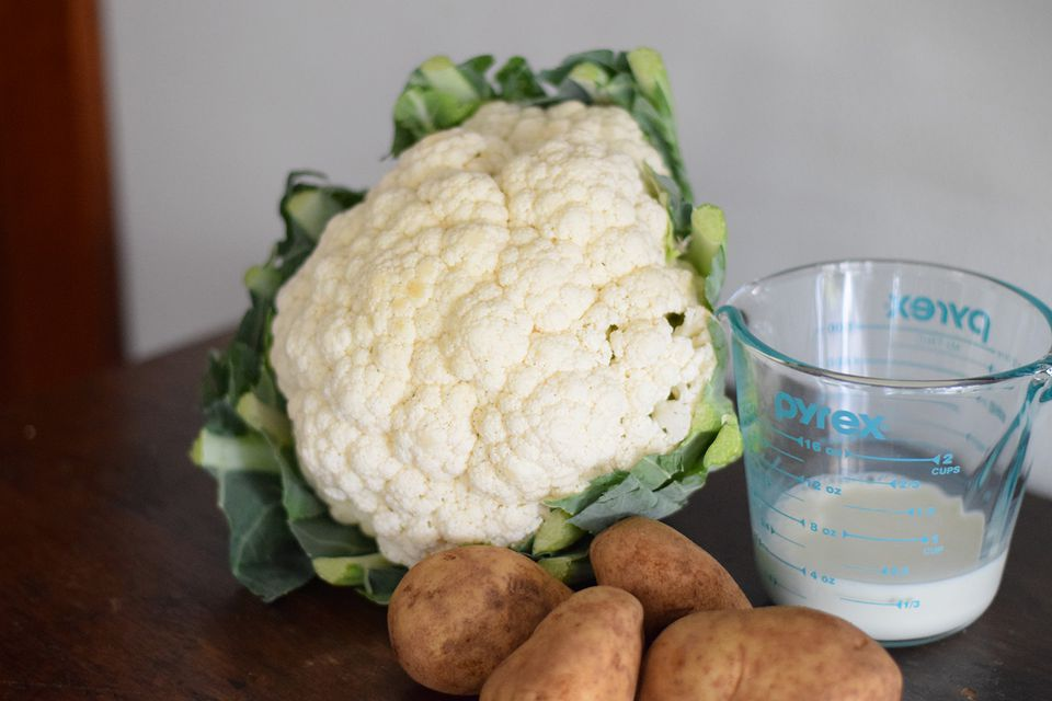 ingredients for mashed cauliflower