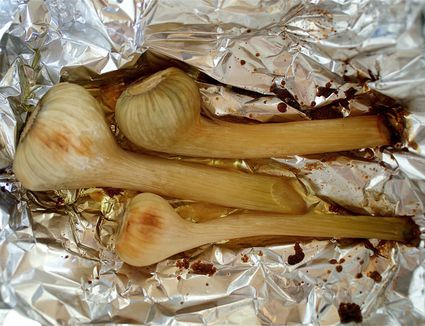 Roasted Green Garlic