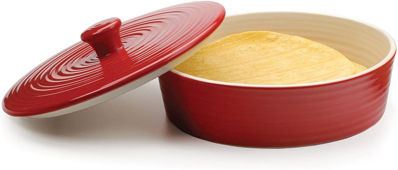 RSVP Glazed Tortilla Warmer in Red