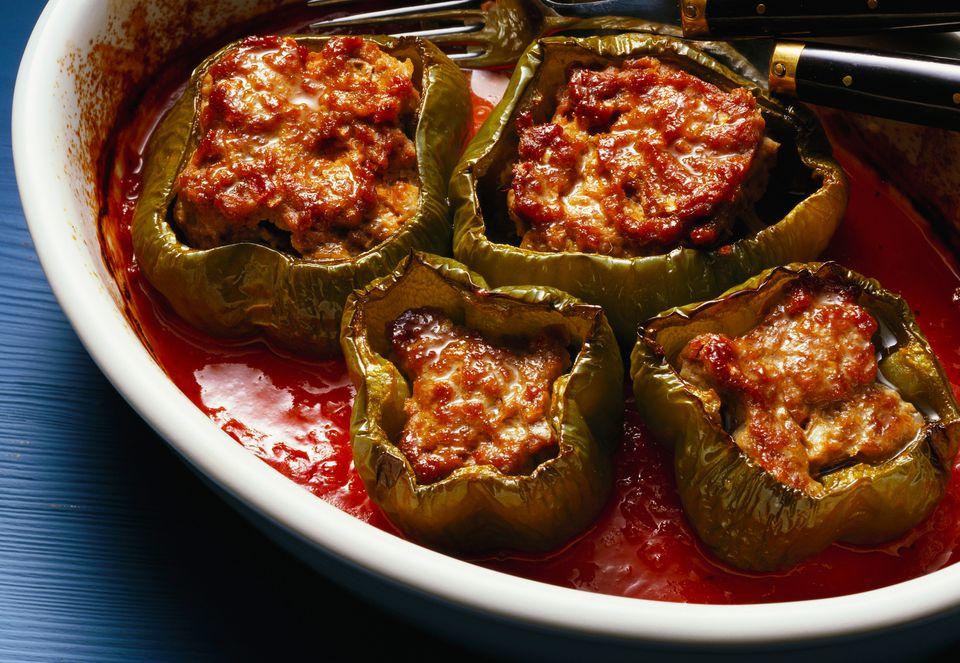 Crock Pot Stuffed Green Peppers